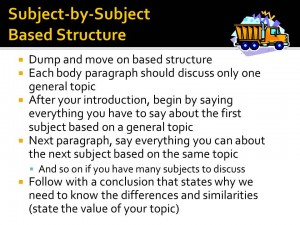 subject by subject essay