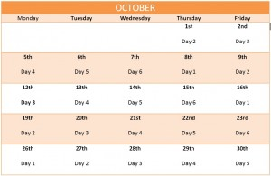October Enrichment Schedule