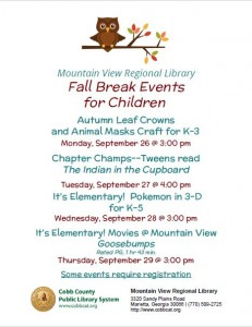 Mtn. View Fall Break Flyer 2016