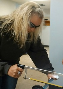 Lauren Van Allen ('12) puts her practical skills to test during CASE Institute training.