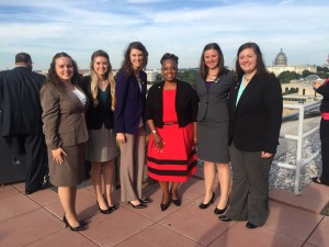 Ashley Leer, third from left, pictured with other future agriculture teachers in Washington, D.C.