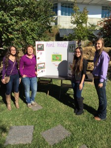 Members of the Agricultural Education Club at the  Safari Edventure Day 2015 from left to right: Meghan Strassburg, Elizabeth Rogers, Melissa Strassburg and Baylee Siemens.