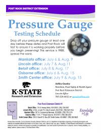 Pressure Guage - Schedule