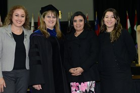 Ecuadorian dignitaries - Fall 2014 commencement