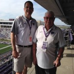 Dave Hartman with his grandfather at  a K-State football game.