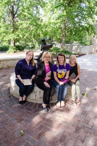 Tonnie Martinez, second from left, is pictured with Ed Cats bloggers Kelsey Scheuerman, Aubrey Lehr and Nikki Miller.