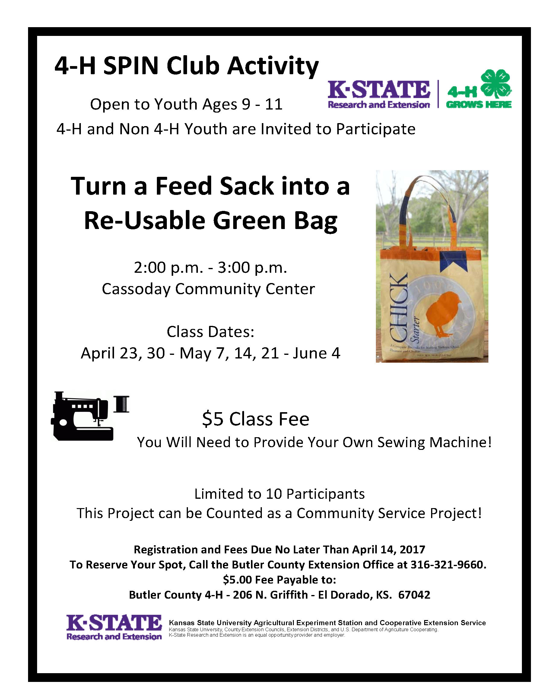 Kansas butler county augusta - Make A Recycled Green Bag 4 H Spin Special Interest Club