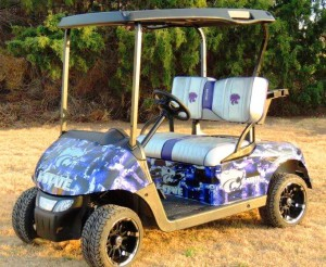 K-State golf cart