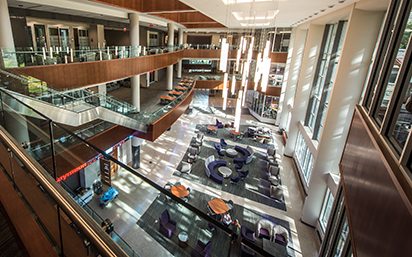 atrium of business building