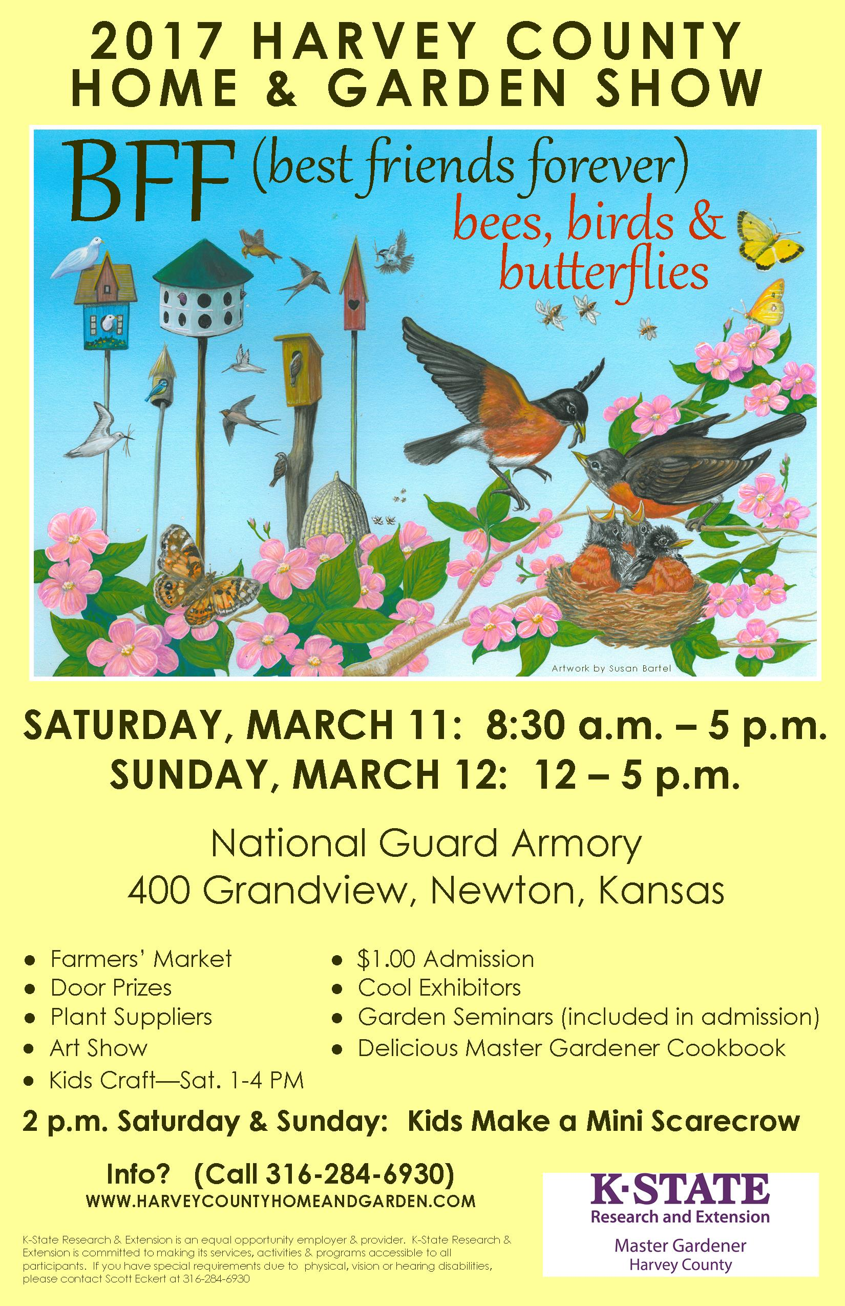 Harvey county home and garden show presenter schedule harvey county for Kansas city home and garden show 2017