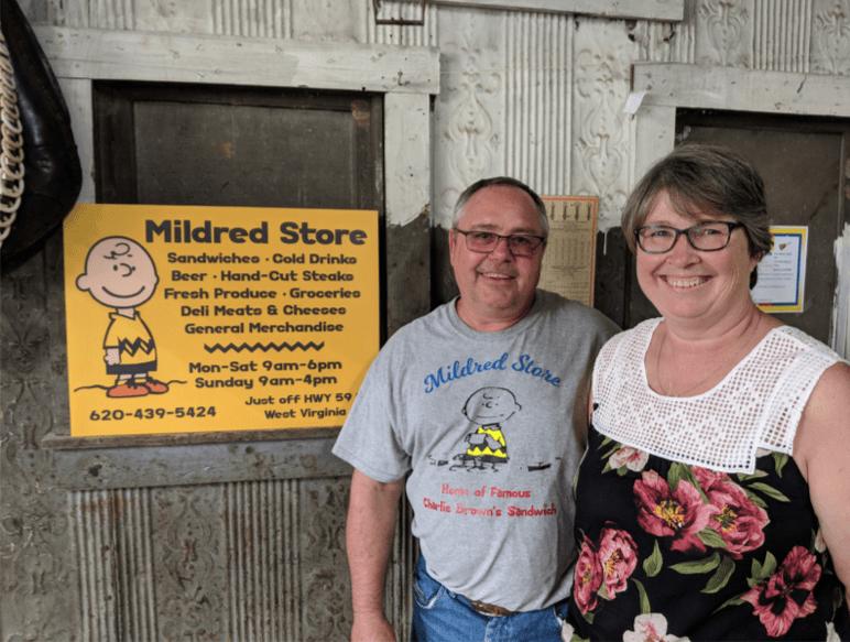 Loren & Regena Lance, Mildred Store