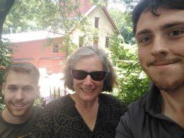 (L-R): Ethan Levin, Bonnie Lynn-Sherow, Brad Galka