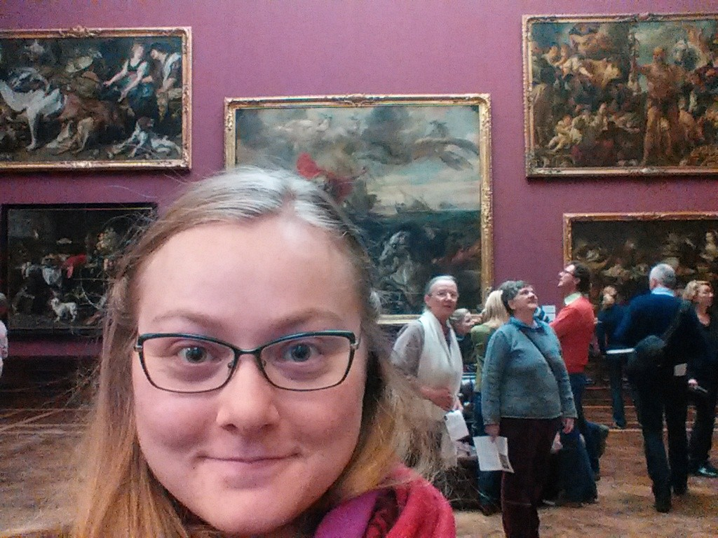Visiting a museum in her free time!
