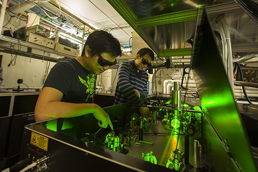 Researchers at Kansas State University's James R. Macdonald Laboratory study ion-atom collisions.