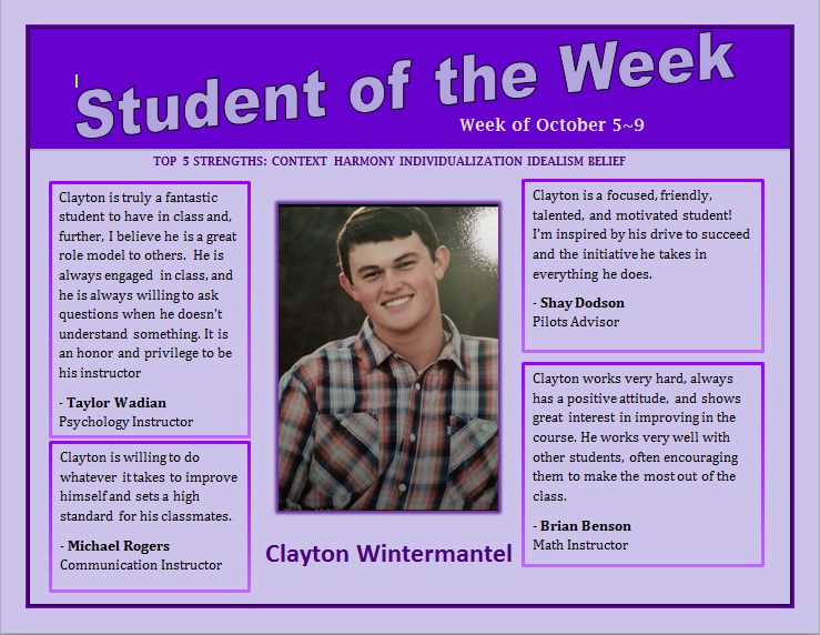 SOTW Clayton Wintermantel
