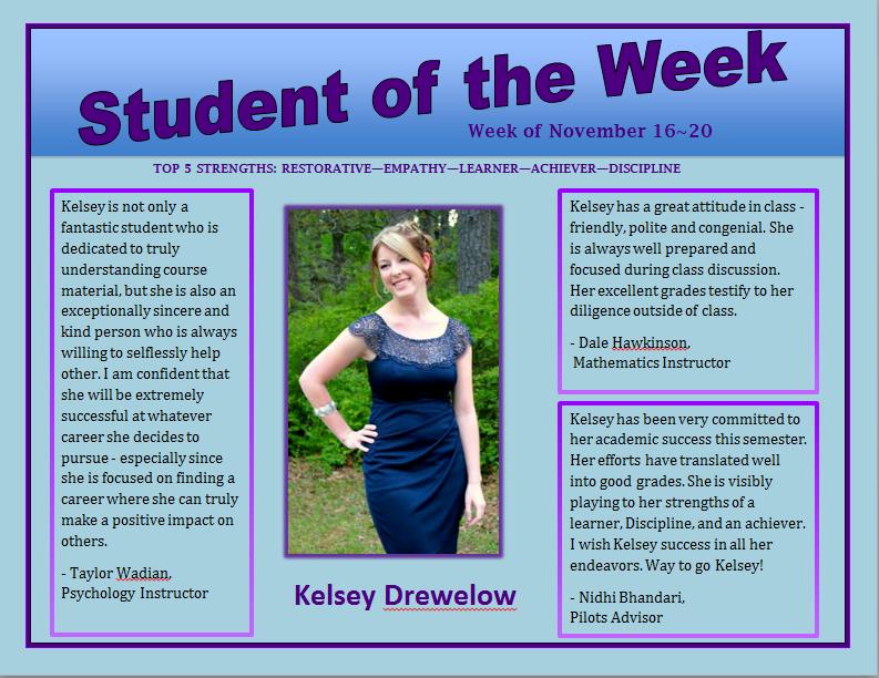 SOTW Kelsey Drewelow
