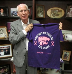 Coach Bill Snyder Holding Shirt