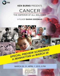 Cancer Documentary Screening Event Flier