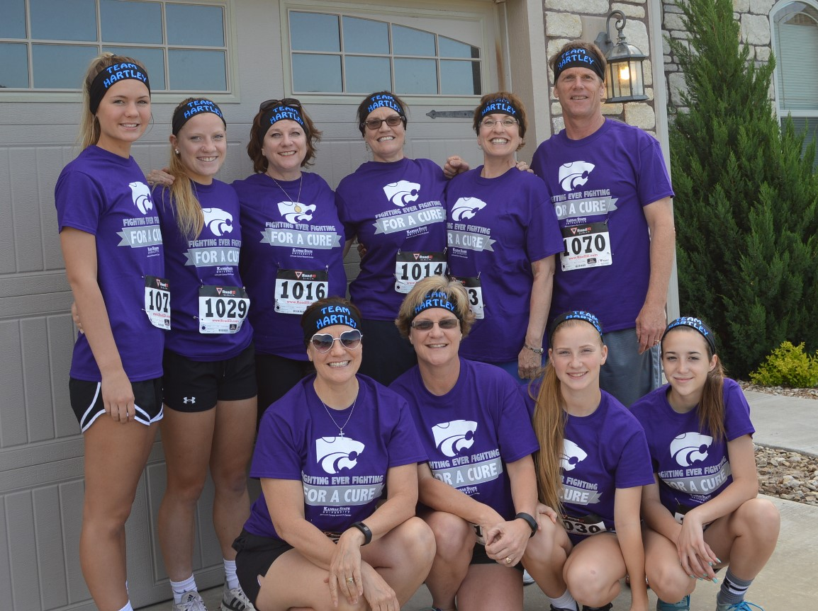 Team Hartley ran in memory of their father/father-in-law/grandfather, J. Herbert Hartley, a K-State alum who passed away in June 2015 from stomach cancer.