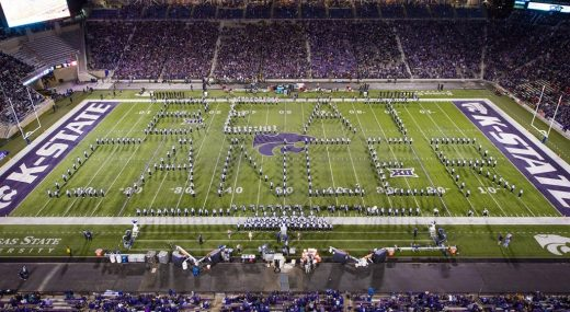 K-State Marching Bands Beat Cancer Formation