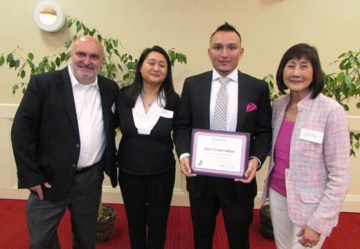 Stefan Bossmann, Julia Tung, awardee Jose Covarrubias, Sarah Young