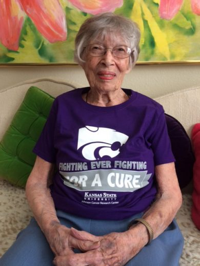 Mary Joerg, 101-year-old K-State retiree