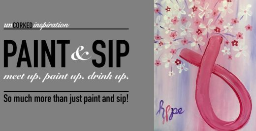 Hope For a Cure Paint & Sip by Uncorked Inspiration & Iron Clad Working