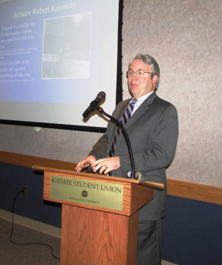 Dr. Kevin Ault presenting for Bascom Lecture series