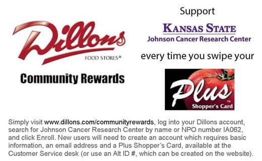 Dillons Community Rewards Program flier