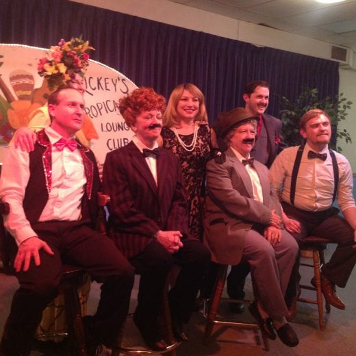 Performers at American Legion's mystery dinner theater
