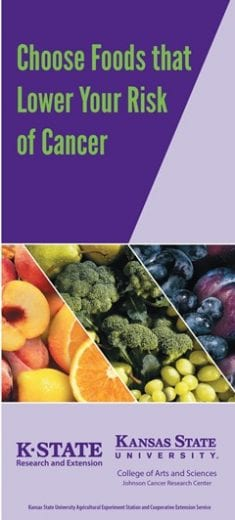Choose Foods that Lower Your Risk of Cancer brochure