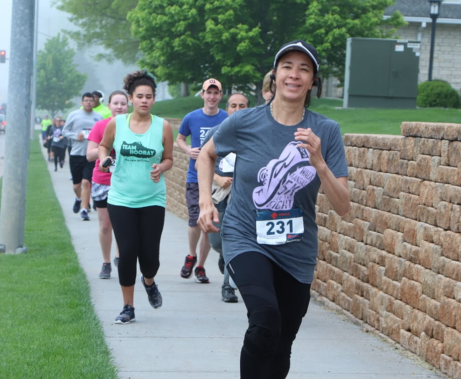 Walk Kansas 5K for the Fight runner in 2019
