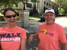 Ladies out walking for the virtual Walk Kansas 5K for the Fight