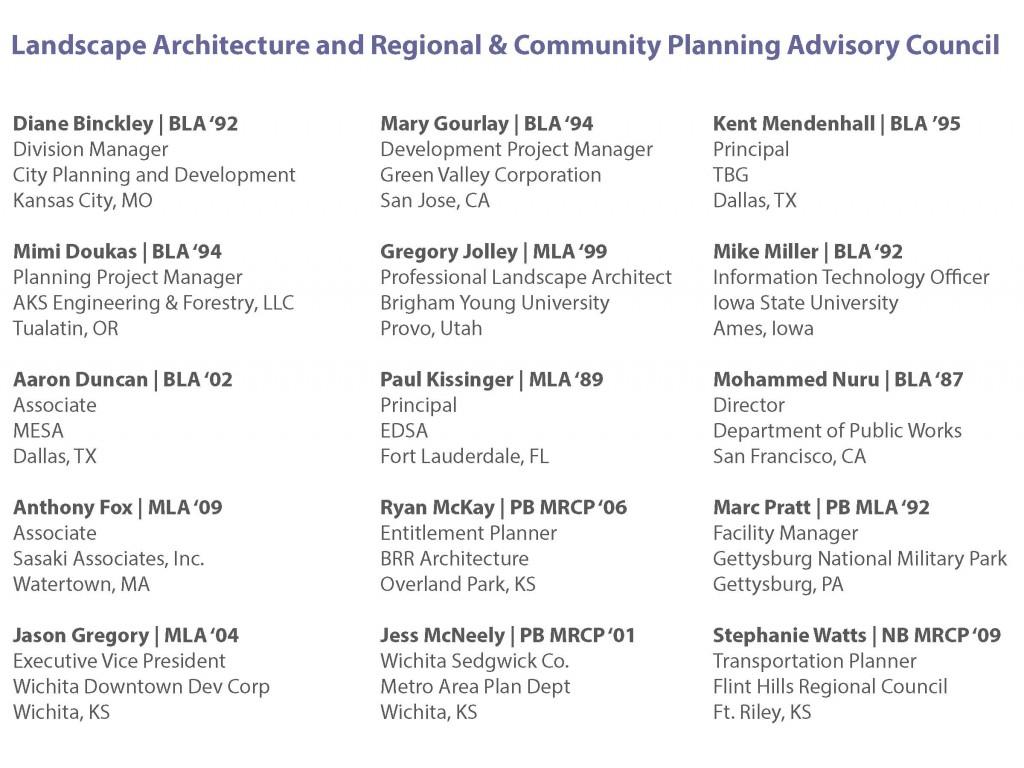 2014 Advisory Council