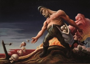 Thomas Hart Benton, The Sowers , from the series The Year of Peril, 1941–42