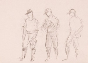 John Steuart Curry, Title unknown (study of baseball players)