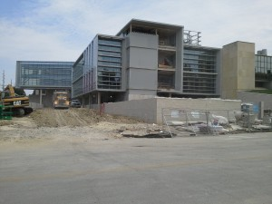 New engineering complex looking from College Heights Road to the north.