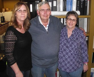 Jim Chacon with his team, Cindy McNulty (left) and Janet Schooler (right)