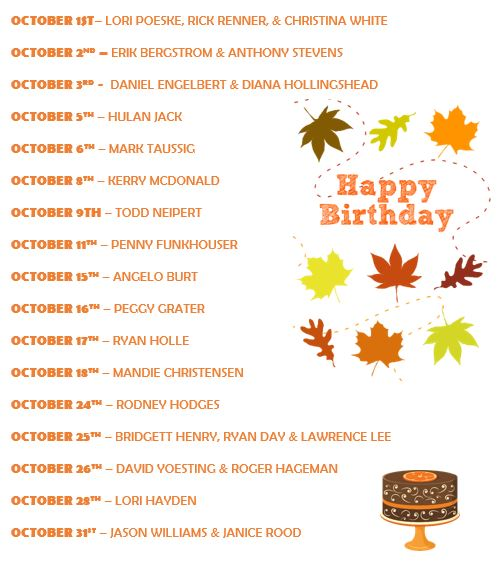 october-bdays