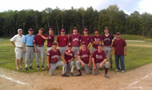 Pedro was assistant coach for the Hanover Sr. Babe Ruth team in summer of 2012.  Bottom row: sons Pedro Jr and Moises