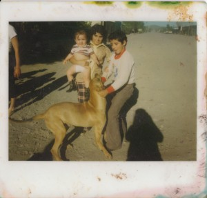 "Pedro with his dog ""el duke"""