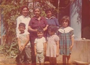 Tia Loli, grandma, mom.  kids: brother Teodoro, Pedro (age 4), and sisters Susi & Consuelo.