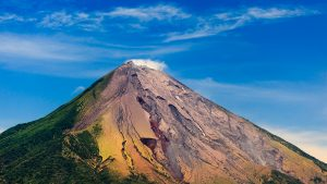 OMETEPE, NICARAGUA: View of Conception Volcano's colorful ash deposits and green slopes.; Shutterstock ID 101348698; PO: Kids Website for March; Job: Hillary Leo; Client: KIDS WEB