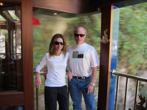 Sebastian and wife in South America