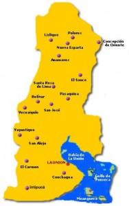 Mapa de La Union-Departamento de El Salvador