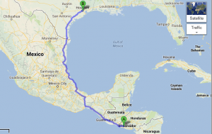 From San Salvador, ES to Houston, TX