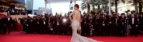 A snapshot from the Cannes International Film Festival red carpet.