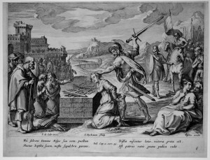 Jephthah piously sacrificing his daughter. Also not in contention for Worlds Best Dad.