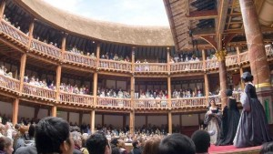 Shakespeare's Globe- A reconstruction theater aspiring to period authenticity