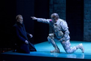 Seago portrays The Ghost in a modern telling of Hamlet (OSF, 2010).